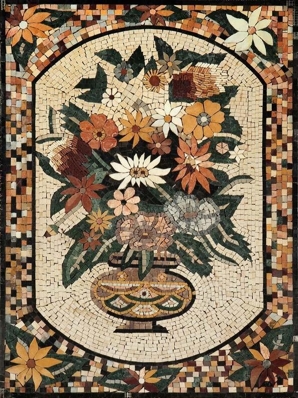 Мозаика из натурального камня 07