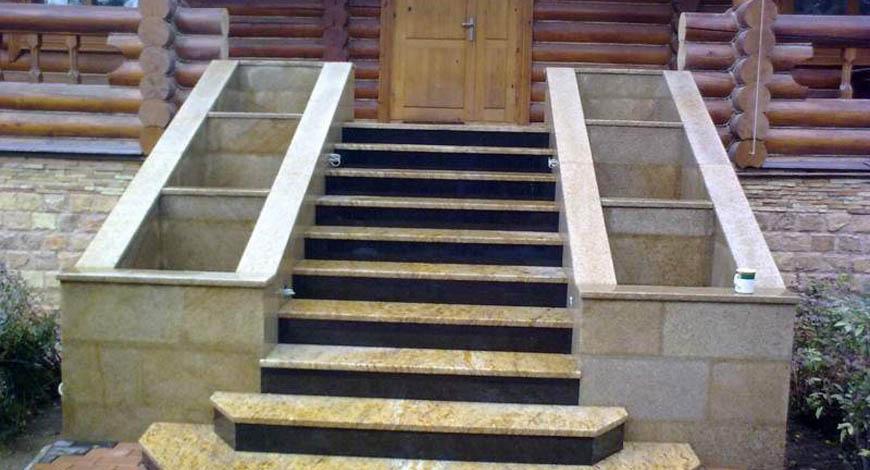 Лестницы из натурального камня - Фото 8