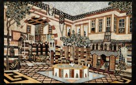 мозаика из натурального камня фото