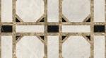 геометрическое панно из натурального камня на пол