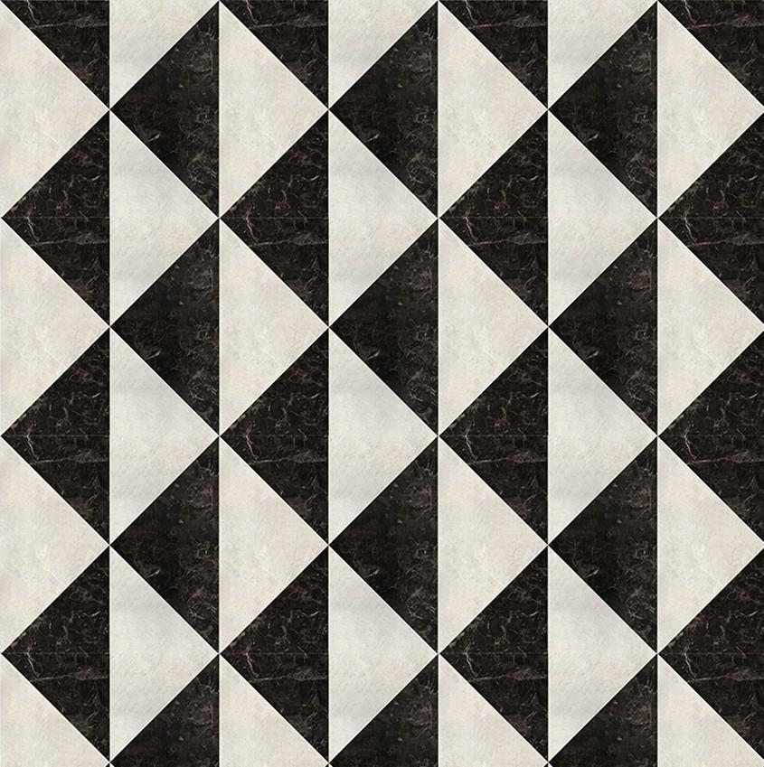геометрическое панно из натурального камня на стену