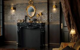 Готический стиль в интерьере гостиной
