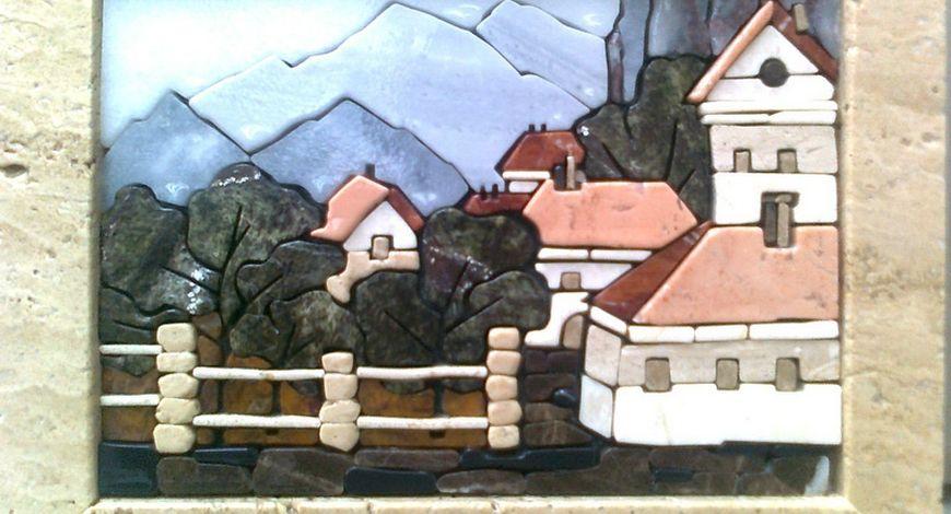 Декоративные панно из камня